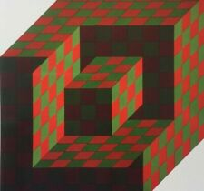 Victor VASARELY Original LITHOGRAPH Limited Edition - FRAMED
