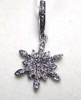 Pave Diamond Charms Pendant 925 Silver Pendant Star Shape Pendant Fence Pendant
