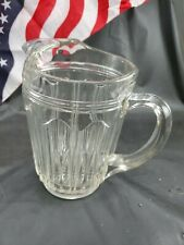 """New listing Vintage Water Pitcher - Heavy Clear Glass, 8"""" Tall - Good Condition"""