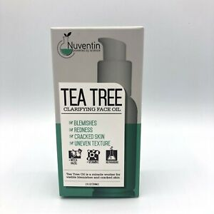 Nuventin Tea Tree Clarifying Face Oil Helps Blemishes Calms Redness