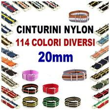 CINTURINO NYLON 20mm ROSSO GIALLO BLU NERO ARANCIONE GIALLO G10 MONOPEZZO