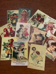 CHRISTMAS POSTCARDS*SERIES TWO *VINTAGE STYLE *12 DIFFERENT IMAGES*COLOR