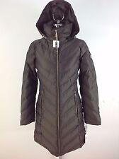 Calvin Klein NWT Women's Brown Modern Chevron Down Jacket Puffer Coat siz XS S L