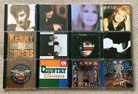 12 CD Lot of Country Music - Garth, Trisha, Faith, Kenny Rogers, Classics & More