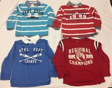 4T Boys Lot Of 4 Long Sleeve Children's Place Collar Shirts