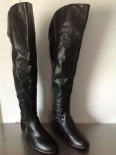 Report Signature Black Thigh High Boots size 8M
