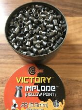 victory IMPLODE HOLLOW POINT .22 air rifle pellets x 500 tin SMK