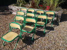 Lovely French Vintage Child Chair Green Metal Ref T21/35a-j