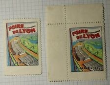 intl Lyons Fair WW Exposition Poster Stamp Ads