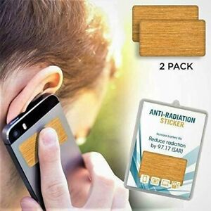 2 Pack Anti EMF Radiation Protection Shield Stickers for Cell Phone, Laptop, Etc