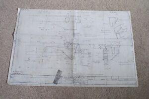 BRUCE McLAREN F1 TEAM REAR TOP BEAM DRAWING BLUEPRINT (PHOTOCOPY) 49cm x 76cm