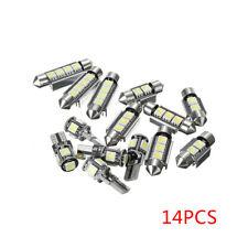 14pcs Car Interior T10 39 41 42mm White LED Lights Bulbs Package Kit Universal