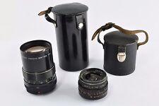 2x  Pentacon  3.5/30  +  2,8/135   M42 Gewinde  Objektiv Lens  DDR