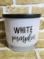 Scentsational WHITE PUMPKIN Coconut Wax Blend Candle XL 3-Wick 26 oz New