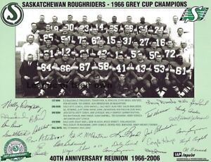 1966 Grey Cup Champion Saskatchewan Roughriders Team Picture  8 X 10 Photo Pic