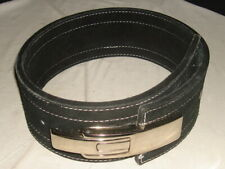 Pro Lever Suede Leather Weight Power Lifting / Gym Training Belt Sz M