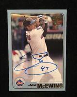 JOE MCEWING 2007 TOPPS AUTOGRAPHED SIGNED AUTO BASEBALL CARD FFA-JMC METS 1/75