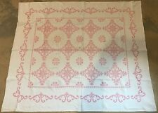Antique Quilt Red Cross Stitch Pattern 74'' x 87''
