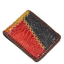 100% Genuine Crocodile Alligator Skin Leather Man Bifold Wallet Color Mix