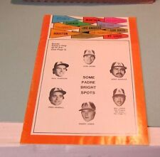 1973 San Diego Padres Los Angeles Dodgers Baseball Program Dave Winfield Rookie