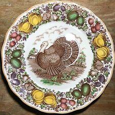 "c1930 Royal Tudor Ware Barker Brothers Turkey Plate 11"" Staffordshire"