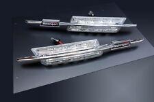 Für BMW E46 LED M Seitenblinker Chrom Klarglas Blinker Limousine Coupe Touring