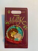 DLR Mistletoe Kisses Lion King Simba and Nala LE Disney Pin (B)