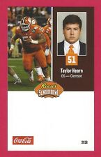 TAYLOR HEARN 2018 REESE'S SENIOR BOWL RC CLEMSON TIGERS ROOKIE CARD