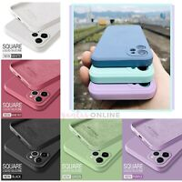 Shockproof Soft Square Pastel Case Cover For iPhone 11 12 MINI PRO MAX X SE 2020