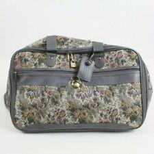 JAGUAR Floral Tapestry Carry On Luggage Bag Weekender Shoulder Strap Rose