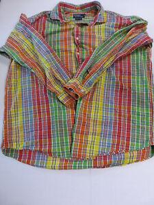 Mens Polo Ralph Lauren Plaid Long Sleeve Button Down Shirt Westerton Size XXL