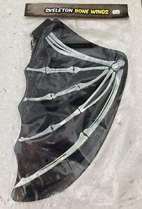 """Black Skeleton Bone Wings for HALLOWEEN - 20"""" -  FREE POSTAGE"""