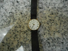 Vintage Woman's Watch Emerich Meerson/Made in Paris/Works/Missing Glass Crystal/