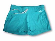 NEW Spalding Women's Cotton Blend Shorts MEDIUM Teal Lake