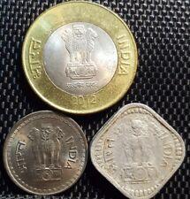 1973, 1987 & 2012 India coins, set of 3pcs (plus FREE 1 coin) #D1125
