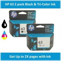 HP 63 Standard Single or Multi-Pack Ink Cartridge (Black or Tri-Color), EXP 2020