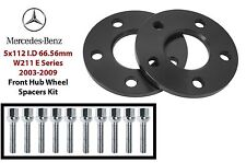 2pc 10mm Mercedes Front Hub Spacers 5x112 66.56mm Fits: W211 E Series 2003-2009