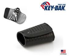 Key-Bak Snap-In Key Silencer Textured Leather Key Ring Case