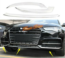 For 2016-2018 Audi A6 Chrome Front Bumper Lip Cover protect Cover Molding 3PCS