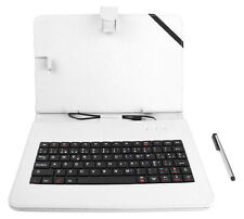 QWERTY Faux Leather Case Cover With Keyboard For Samsung Galaxy Tab 3 / 2 10.1