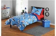 Your Zone Blue Sharks Bed in a Bag Kids Bedding Set Twin Comforter Sham Sheets