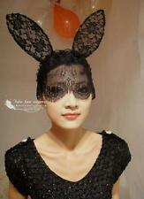 Lady Gaga style Face / Eye lace Mask  NEW - rabbit long ear