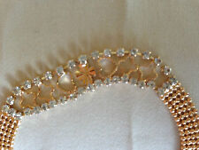 "18K ct Yellow GF Gold filled Women""s Bracelet Elegant 170mm"