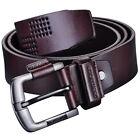 Men's Genuine Leather Antique Casual Business Style Dress Jean Single Prong Belt