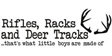 RIFLES RACKS AND DEER TRACKS Vinyl Wall Decal Boy Children Nursery Lettering