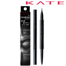 [KANEBO KATE] Eye Frame Designer 2 in 1 Liquid & Pencil Eyeliner BLACK BK-1 NEW
