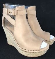 Ugg Australia Women's Jolina Sandals Wedge Heels Espradille Tan Nubuck Leather