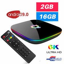 2020 Q BOX Quad Core Android 9.0 TV Box 2GB+16GB Smart Media Player WIFI HDMI UK