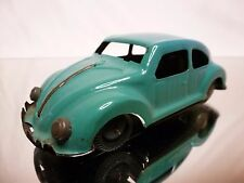TIN TOY BLECH JAPAN VW VOLKSWAGEN  BEETLE - BLUE/GREEN L13.0cm - NICE - FRICTION