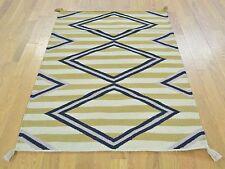 "3'2""x5' Navajo Design Striped Flat Weave Hand Woven Oriental Rug Sh29968"